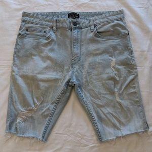 Five Four- Distressed Men's Jean Shorts light wash